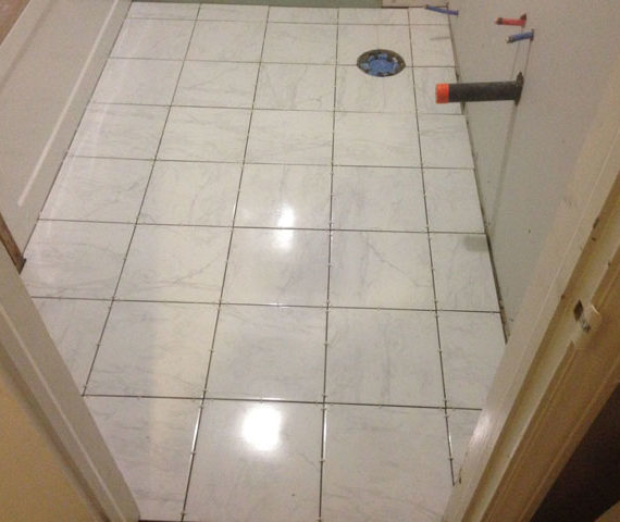 bathroom tiling project